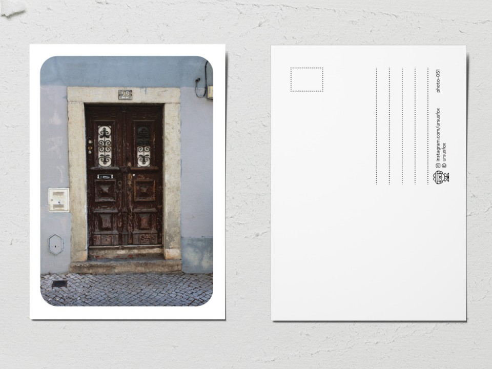 Авторская фото открытка «Двери мира», старая дверь
