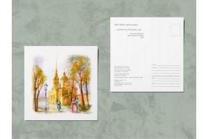 Открытка почтовая «Петропавловский собор», Ирина Есиневич