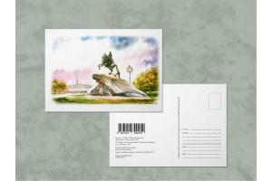 Открытка почтовая «Памятник Петру 1 - Медный Всадник», Ирина Есиневич