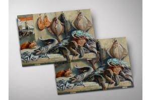 Открытка - постер «В рыбной лавке», Мария Павлова