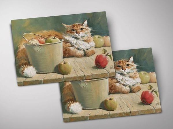 Открытка - постер «Яблочный хозяин», Мария Павлова