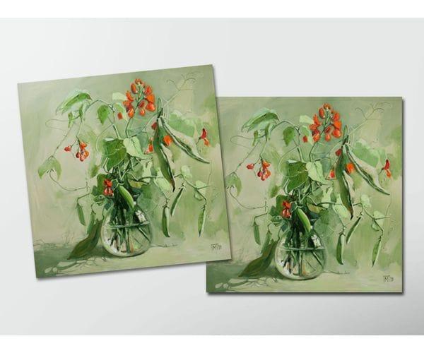 Открытка - постер «Горошек» из коллекции работ Марии Павловой