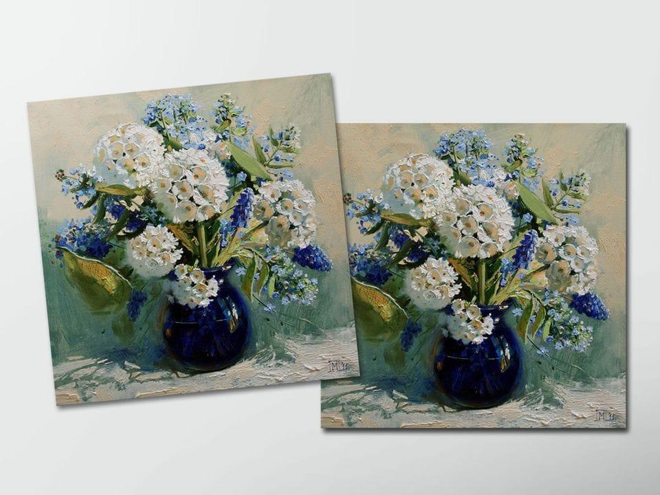 Открытка - постер «Весенний букет» из коллекции работ Марии Павловой