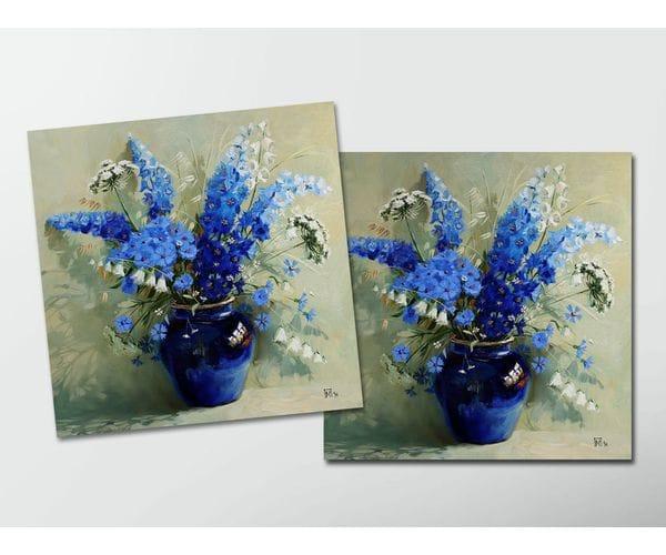 Открытка - постер «Синий букет» из коллекции работ Марии Павловой