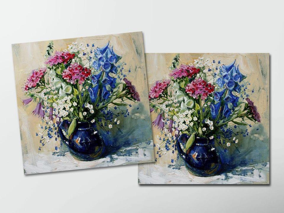 Открытка - постер «Летние цветы» из коллекции работ Марии Павловой