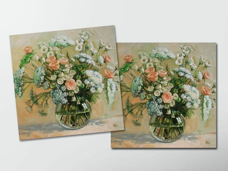 Открытка - постер «Деликатный букет»  из коллекции работ Марии Павловой