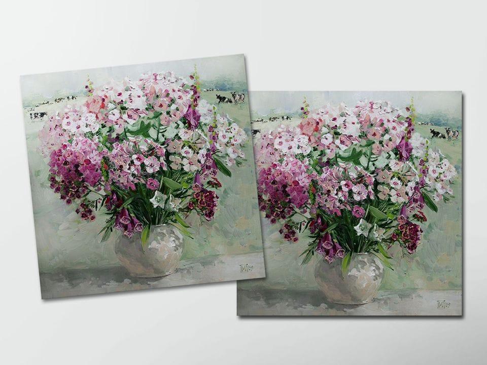 Открытка - постер «Флоксы» из коллекции работ Марии Павловой