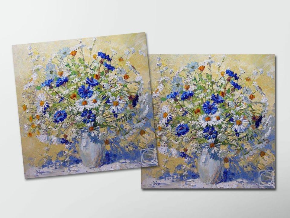 Открытка - постер «Полевой букет» из коллекции работ Марии Павловой