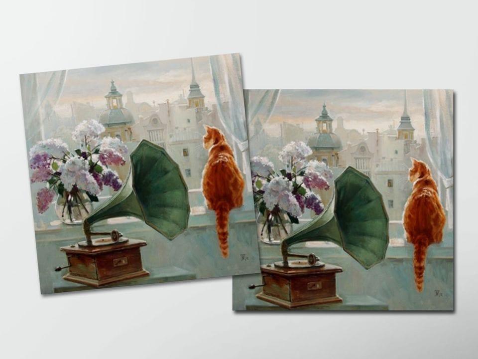 Открытка - постер «Утро на Моховой» из коллекции работ Марии Павловой