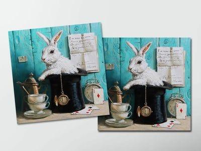 Открытка - постер «Здесь всегда время пить чай»