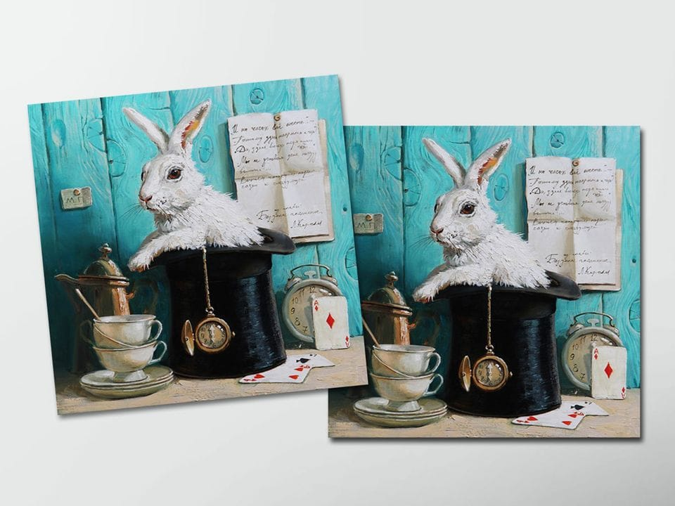Открытка - постер «Здесь всегда время пить чай» из коллекции работ Марии Павловой