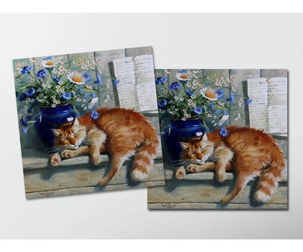 Открытка - постер «Рыжий кот» из коллекции работ Марии Павловой