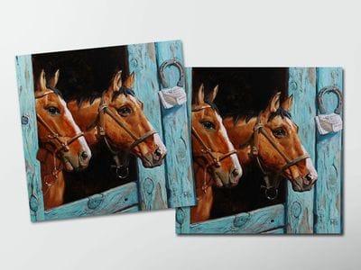 Открытка - постер «Лошади»