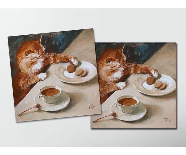Открытка - постер «Васенька» из коллекции работ Марии Павловой
