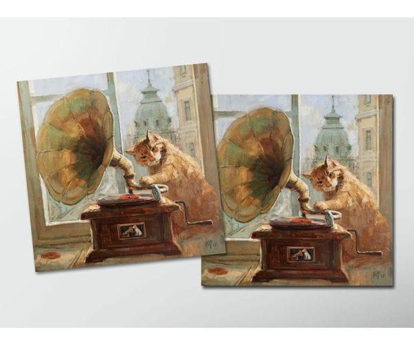 Открытка - постер «А что это издает звуки?»  из коллекции работ Марии Павловой