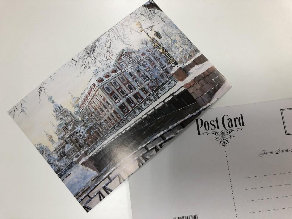Почтовая открытка «Зима на Мойке» из коллекции работ Артемиса