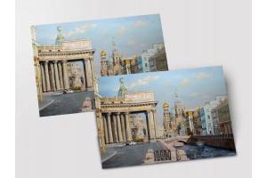 Почтовая открытка «Канал Грибоедова», Петербург