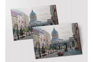 Почтовая открытка «Малая Конюшенная улица», Петербург