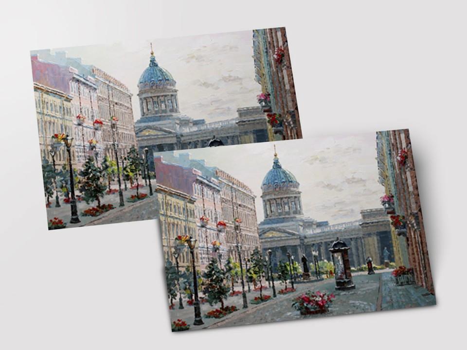 Почтовая открытка «Малая Конюшенная улица» из коллекции работ Артемиса