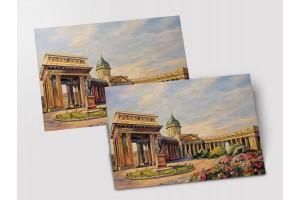 Почтовая открытка «Казанский собор», Петербург