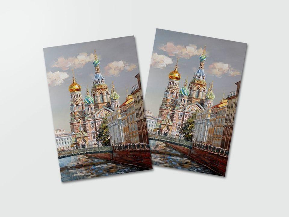 Почтовая открытка «Спас на Крови вид с моста» из коллекции работ Артемиса