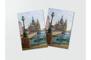 Почтовая открытка «Спас на Крови с обратной стороны», Петербург