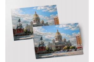 Почтовая открытка «Исаакиевская площадь», Петербург