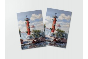 Почтовая открытка «Росстральная колонна», Петербург
