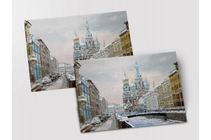Почтовая открытка «Спас зимой», Петербург