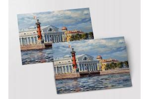 Почтовая открытка «Стрелка Васильевского острова», Петербург
