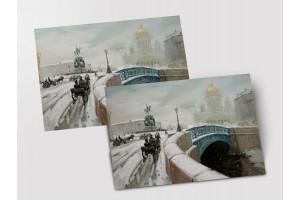 Почтовая открытка «Исаакиевский», Петербург