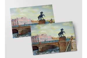 Почтовая открытка «Аничков мост», Петербург