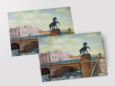 Открытка «Аничков мост»