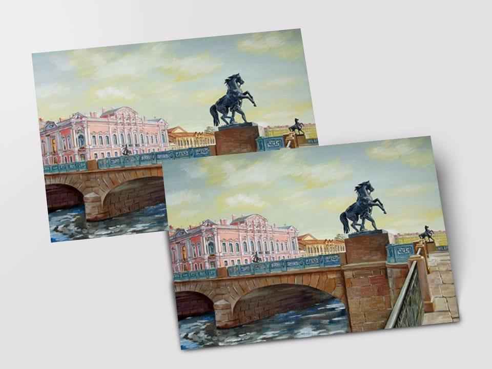 Почтовая открытка «Аничков мост» из коллекции работ Артемиса