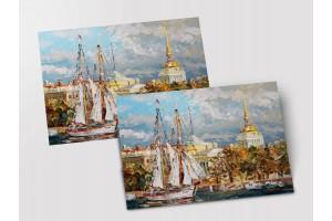 Почтовая открытка «Адмиралтейство», Петербург