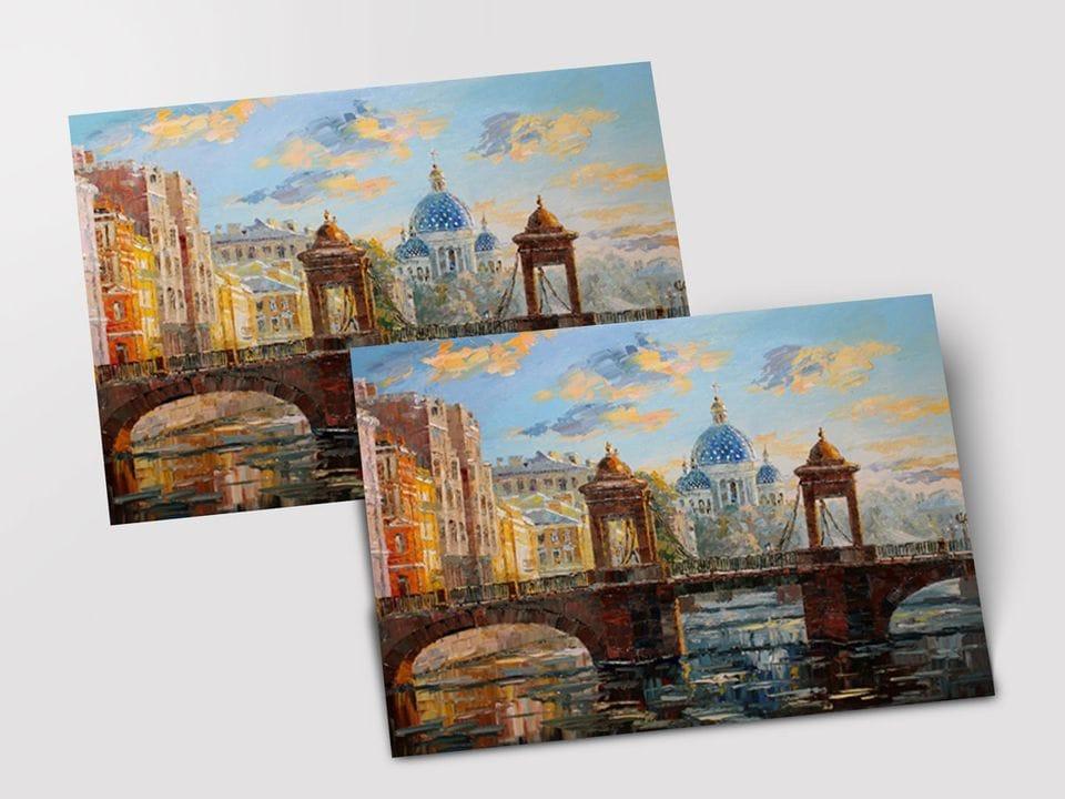 Почтовая открытка «Мост Ломоносова» из коллекции работ Артемиса
