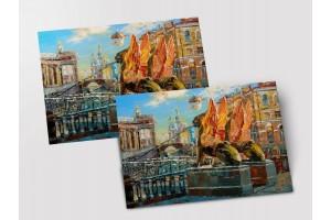 Почтовая открытка «Банковский мост», Петербург
