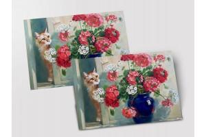 Почтовая открытка «Букет пеларгоний», Мария Павлова