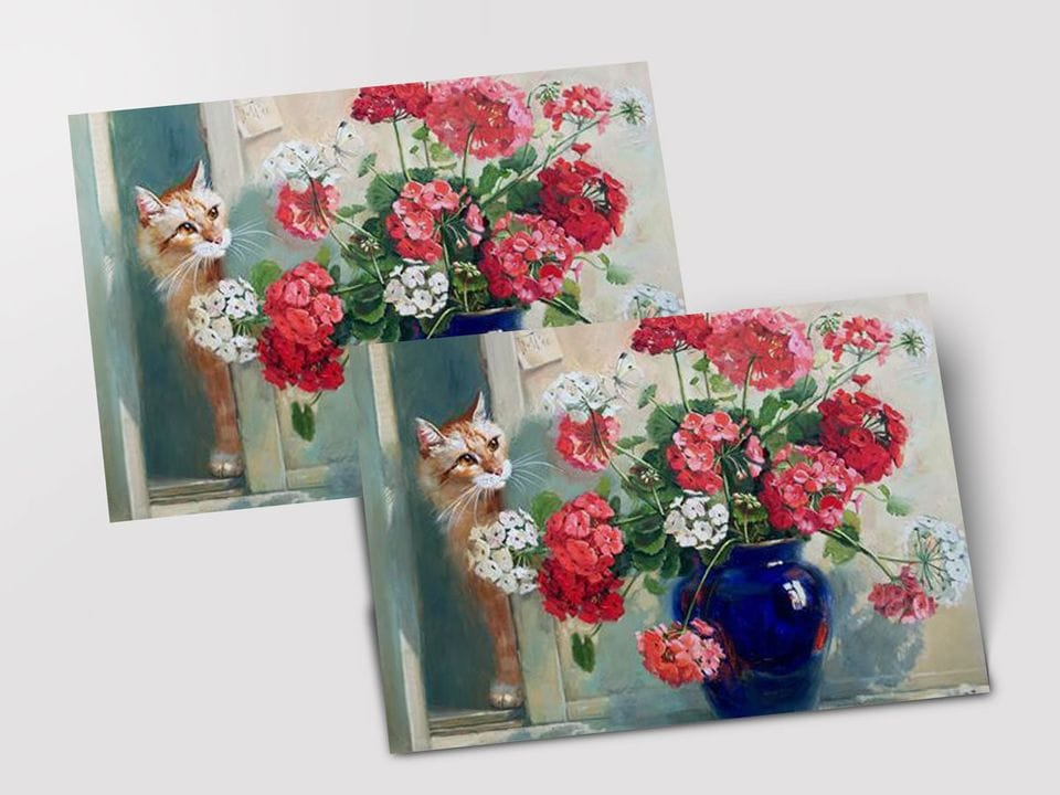 Почтовая открытка «Букет пеларгоний» из коллекции работ Марии Павловой