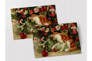 Почтовая открытка «Новогодние шары», Мария Павлова
