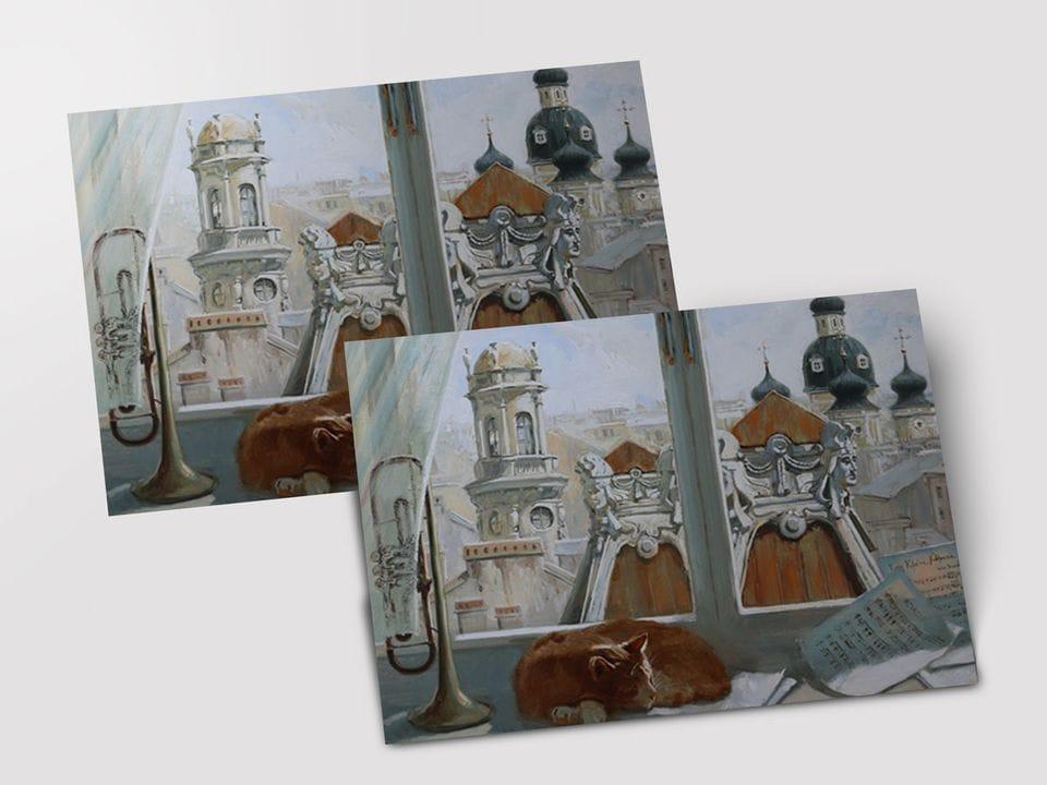 Почтовая открытка «Сны о Пяти углах» из коллекции работ Марии Павловой
