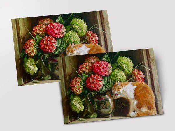Почтовая открытка «Умывается», Мария Павлова