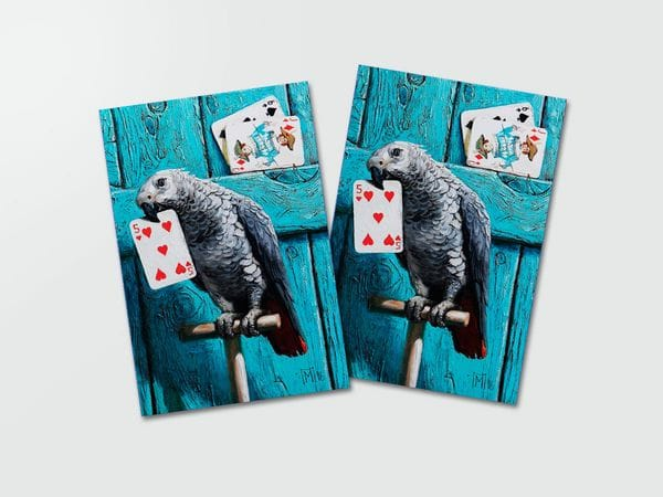 Почтовая открытка «Попугай», Мария Павлова