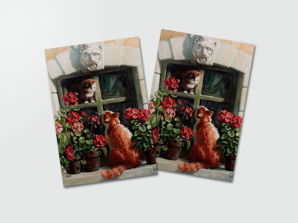 Почтовая открытка «Свидание» из коллекции работ Марии Павловой