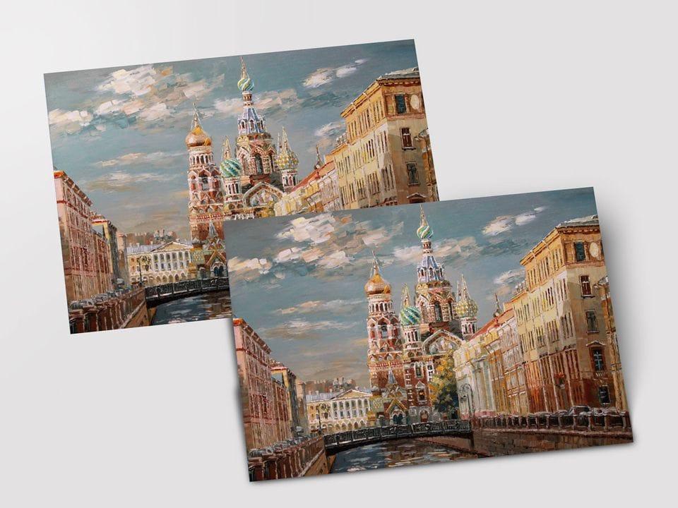 Почтовая открытка «Спас на Крови»  из коллекции работ Марии Павловой