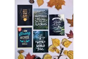 Набор почтовых открыток «Мотивирующие фразы»