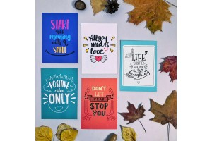 Набор почтовых открыток «Мотивирующие фразы 2»