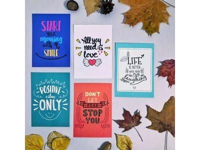 """Набор почтовых открыток """"Мотивирующие фразы 2"""""""