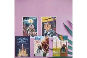Набор почтовых открыток «Московский» 5шт