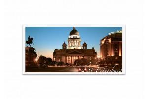 Почтовая открытка фото «Исаакиевский собор» ночью